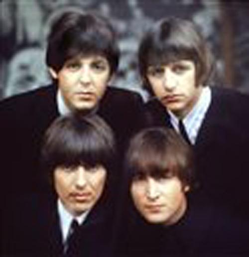 The Beatles, clockwise from top left,Paul McCartney, Ringo Starr, John Lennon, and George Harrison are shown on an album cover in 1965. ME Online