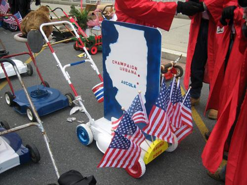 Photo+courtesy+Mats+Selen+A+decorated+mower+of+the+Arcola+Lawn+Rangers+is+readied+during+the+lineup+for+President+Barack+Obama%27s+inaugural+parade+in+Washington+D.C.+on+Jan.+20.%0A