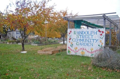 The Randolph Street Community Garden, on the corner of Randolph St. and Beardsley Ave., is a local volunteer-staffed garden where community members can come and grow their own produce.
