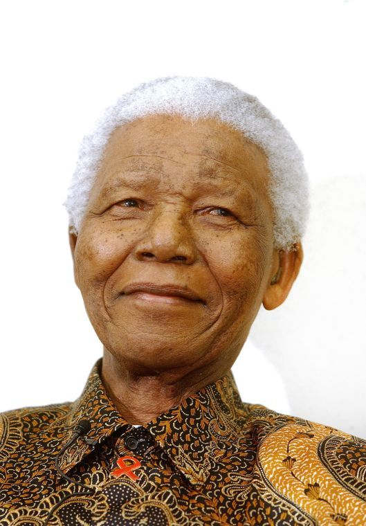 Nelson Mandela, former president of South Africa and recipient of the Nobel Peace Prize, delivers remarks at a program in Washington, D.C., in this file photo from May 16, 2005. Mandela died on Thursday, Dec. 5, 2013.