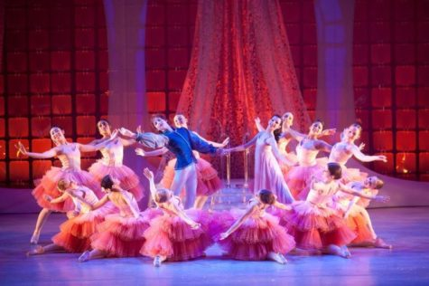 "The Champaign Urbana Ballet performs a waltz with Clara and her prince during a ""The Nutcracker"" performance in 2012."