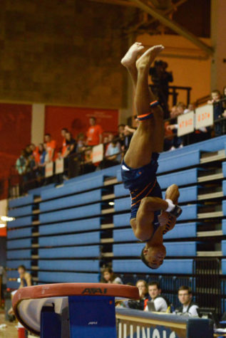 No. 8 Illini defeat No. 3 Ohio State in men's gymnastics home opener