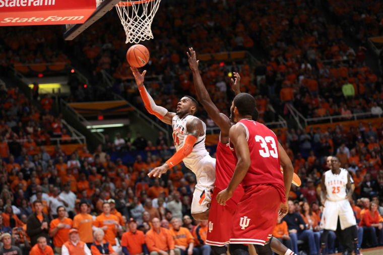 Illinois%27+Rayvonte+Rice+%2824%29+attempts+a+layup+during+the+game+against+Indiana+at+State+Farm+Center%2C+on+Tuesday%2C+Dec.+31%2C+2013.+The+Illini+won+83-80.
