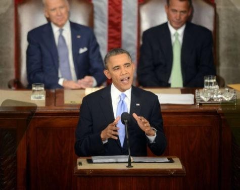 President Barack Obama delivers his State of the Union speech during a joint session of Congress on Capitol Hill in Washington, D.C., Tuesday, Jan. 28, 2014.
