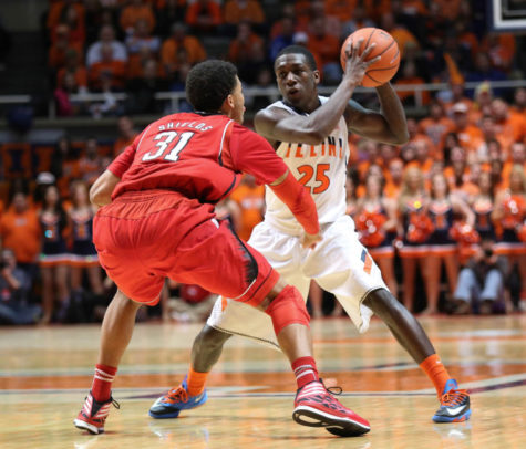 Illini freshmen lead men's basketball to 60-49 win over Nebraska