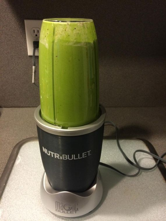 Anna's green smoothie is a quick and easy way to add a serving of vegetables to students' daily diets.