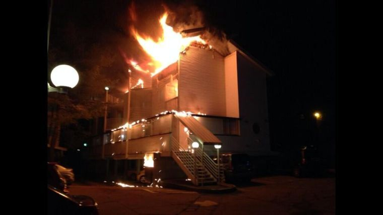 Eighteen people were displaced following an Urbana apartment fire.