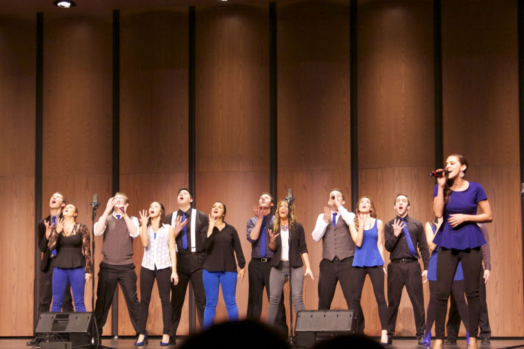 No+Comment+preforms+at+the+International+Championship+of+Collegiate+A+Cappella+%28ICCA%29+Midwest+quarterfinals+in+DeKalb%2C+Ill.%2C+on+March+8.+The+a+cappella+group+will+have+its+10th+anniversary+spring+show+on+Saturday.