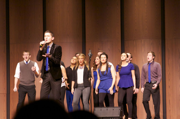 A+Cappella+No+Comment+preforms+at+the+International+Championship+of+Collegiate+A+Cappella+%28ICCA%29+Midwest+quarterfinals+in+DeKalb%2C+Ill.%2C+on+March+8.+The+a+cappella+group+will+have+its+10th+anniversary+spring+show+on+Saturday.