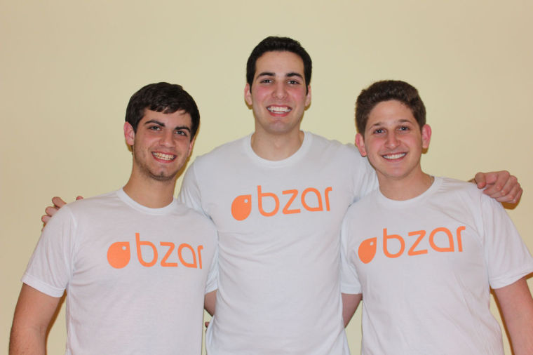 From left to right, Ethan Goldman, Spencer Carmona and Bryan Lapidus have been developing Bzar, a buying and selling app, since summer 2013. The app features a simplified item newsfeed and its own communication tool to make transactions easier between users.