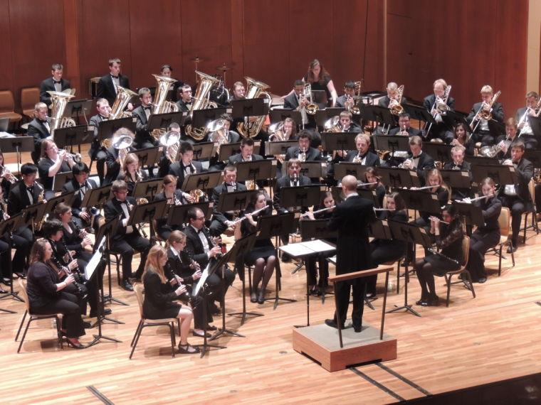 On Tuesday night, the University's School of Music showcased the Campus Concert Band, University Concert Band and Hindsley Symphonic Band in the Krannert Center for the Performing Arts.
