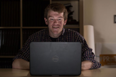 Allen Kleiner, freshman in computer science engineering, balances his education with greek life and a capella groups.