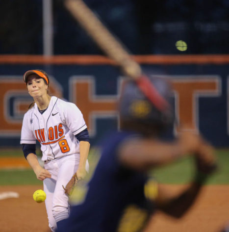 Illinois softball shocks Michigan in first game of series