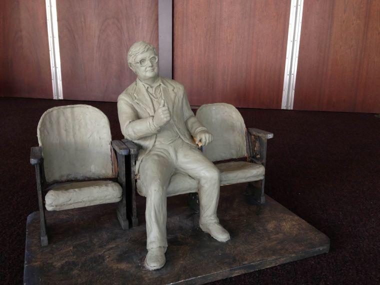 Life-size+statue+commemorates+Roger+Ebert