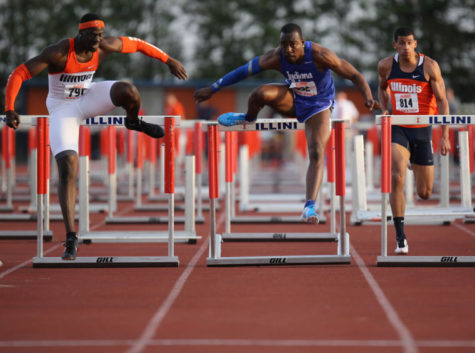 Illinois men's track and field takes third at Musco Twilight