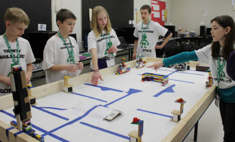 Students participate in the fifth annual state 4-H robotics competition on April 20, 2013.