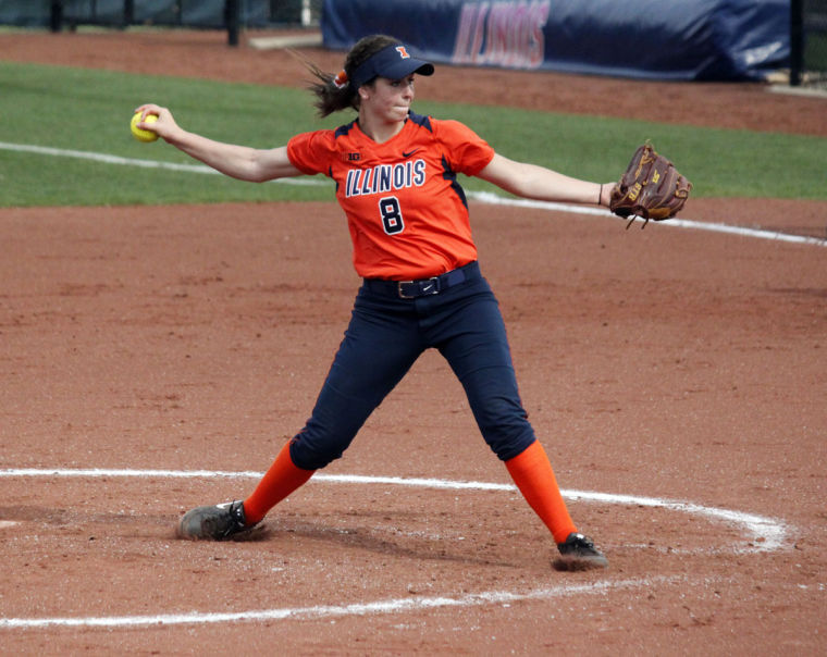 Illinois%27+Brandi+Needham+%288%29+throws+a+pitch+during+the+second+game+against+Michigan+at+Eichelberger+Field+on+Saturday+April+26.+The+Illini+lost+6-5.
