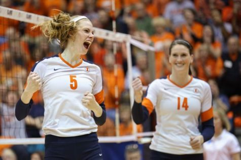 Difficult schedule results in mixed emotions for Illinois volleyball