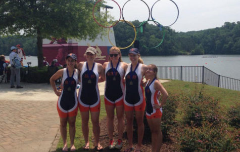 Women's rowing novice 4-plus team wins national championship