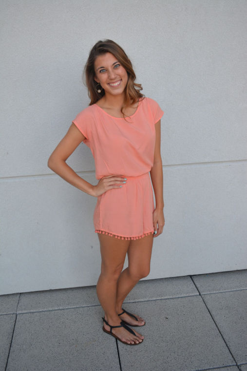 Libby Smith, senior in Media, sports one of her favorite summer outfits.