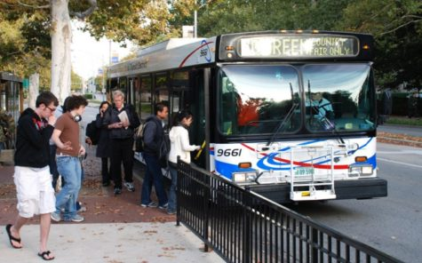 Riders board a MTD bus across the street from the Illini Union on Sunday, October 19, 2008.