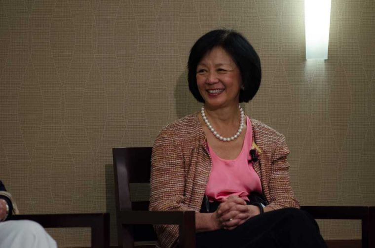 Chancellor Phyllis Wise at Saturdays Investing in Women event, hosted at the I-Hotel.
