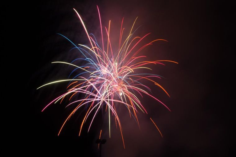 Fireworks were displayed in celebration of the 4th of July at Lot E-14 this past weekend.