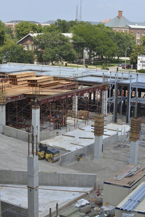 JSM Apartments is in the middle of constructing the Campus Center at Sixth and Healey streets. Apartments will be ready to lease in August 2015.