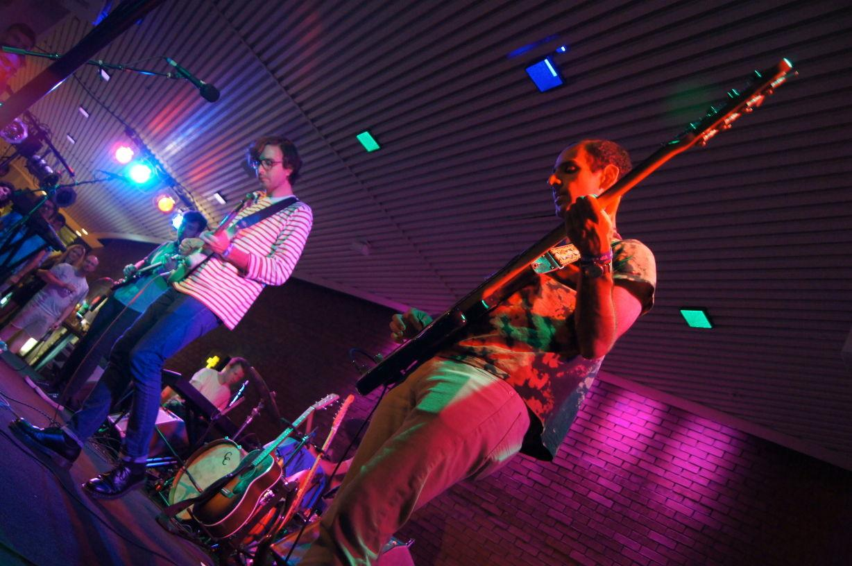 Real Estate performs at the Krannert Center for the Performing Arts on Thursday night.