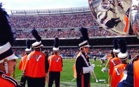 Marching Illini performs at Soldier Field