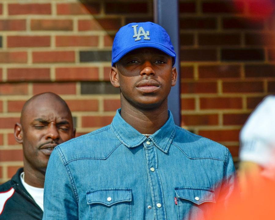 Basketball recruit Jalen Coleman during the game against Texas State at Memorial Stadium on Saturday. Coleman committed to John Groce and the Illini on Tuesday.