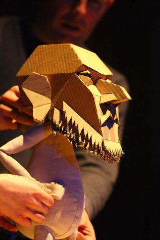 "Blind Summit Theatre will perform ""The Table,"" starring a cantankerous puppet, on Wednesday through Friday at the Krannert Center for the Performing Arts."