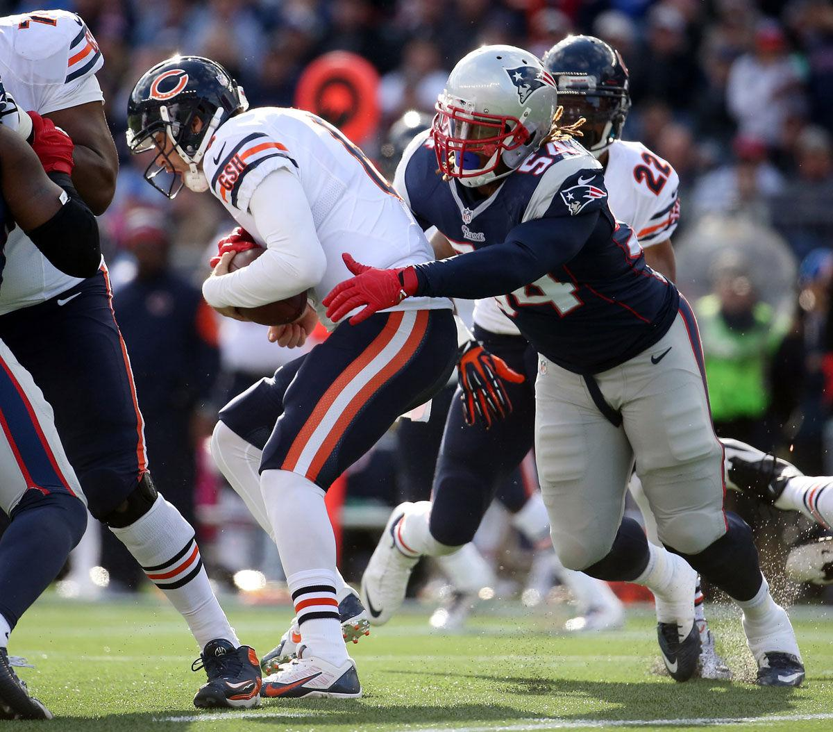 Chicago+Bears+quarterback+Jay+Cutler+is+sacked+by+New+England+Patriots+outside+linebacker+Dont%E2%80%99a+Hightower+in+the+second+quarter+Sunday.