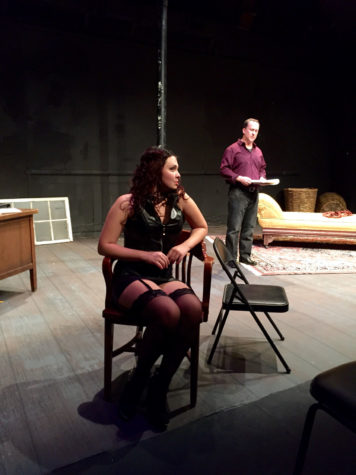 "Laura Anne Welle and Thom Miller star in ""Venus in Fur,"" a play running from today to Nov. 15 at the Station Theatre."