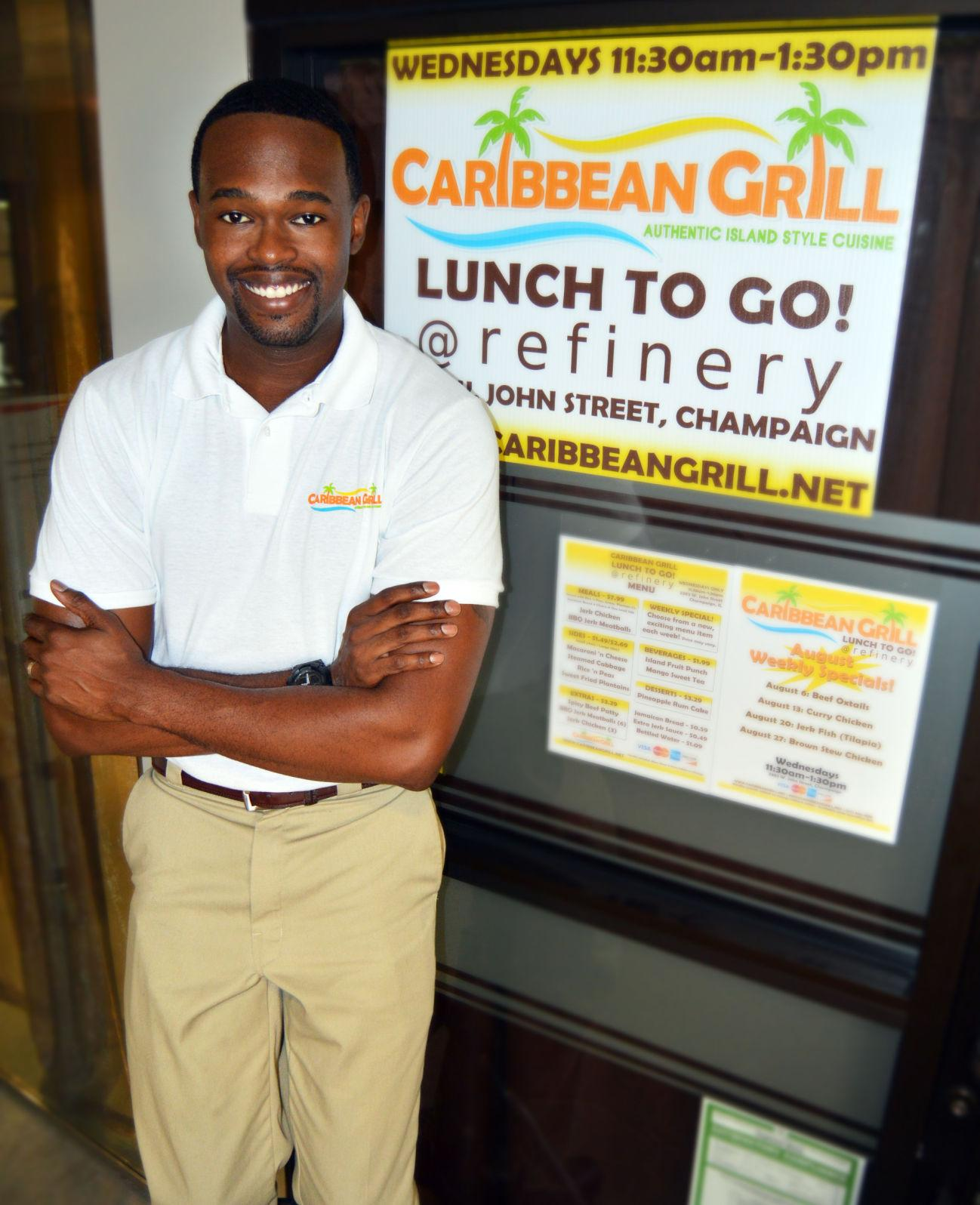 Mike Harden, 2005 University MBA alumnus, started his catering and lunch carryout food service Caribbean Grill in 2010. The business is expanding from its food truck and catering services to a permanent location, 2135 S Neil St., Champaign on Tuesday, May 30.