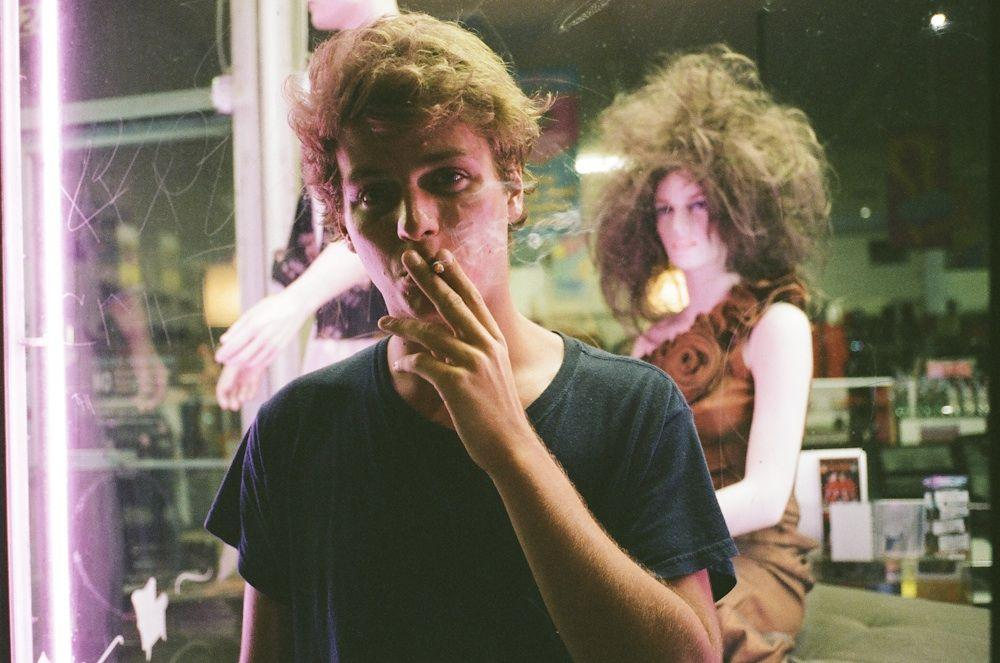 A Mac DeMarco photo session at The Echo in Silver Lake.