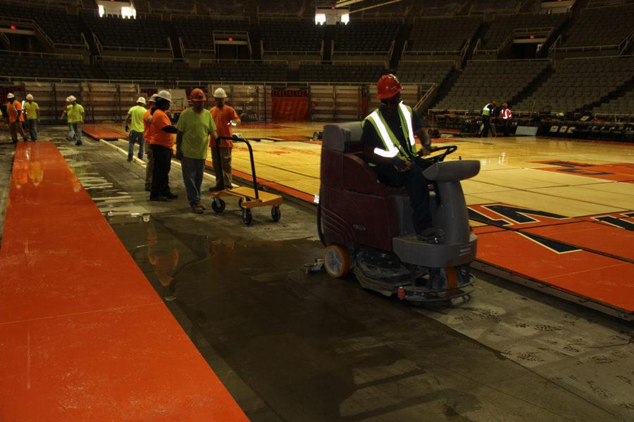 State Farm Center floods, court possibly damaged