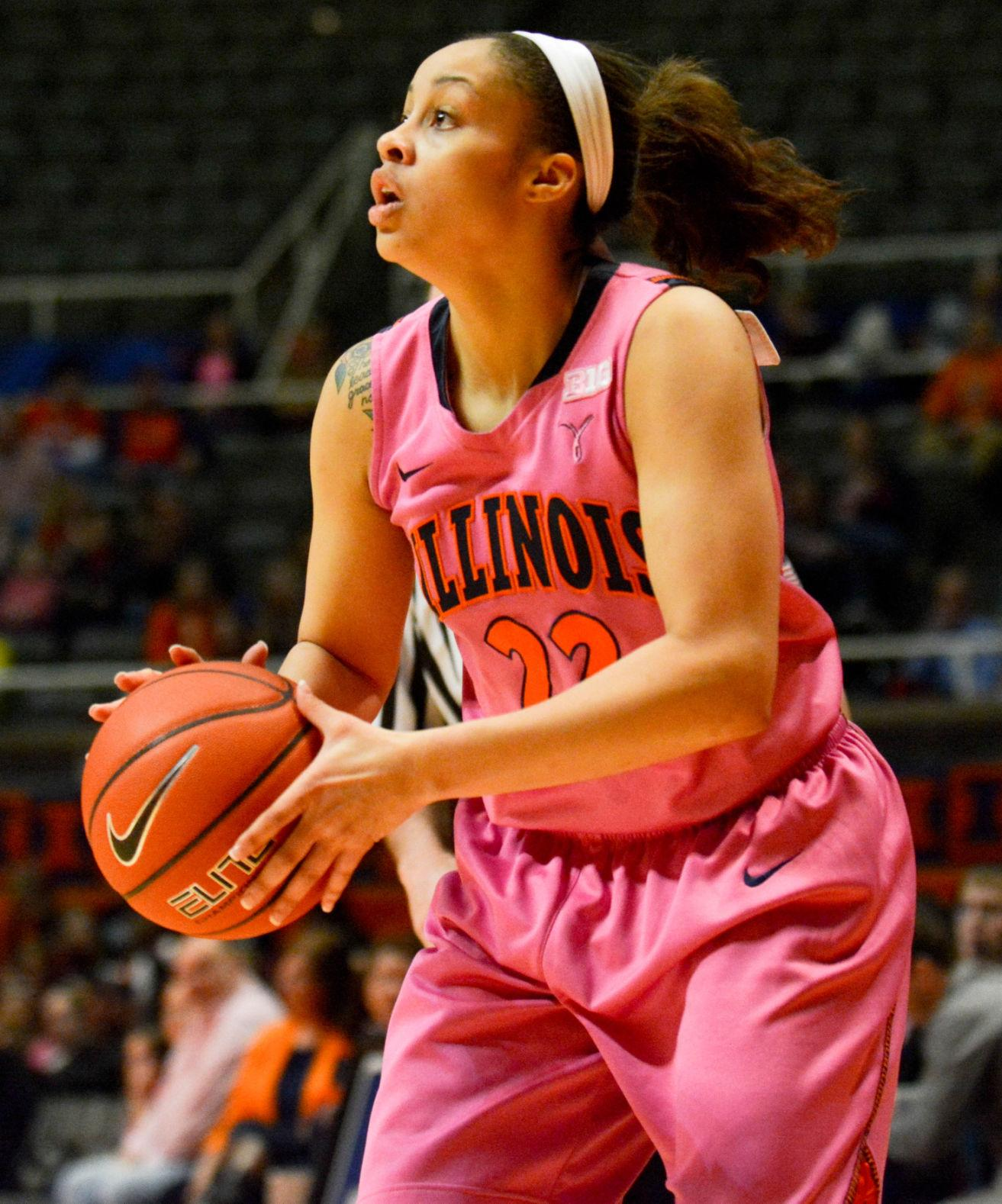 Illinois' Ivory Crawford attempts a shot during the game at State Farm Center on Feb. 16. Crawford was one of the Illini's leading scorers and rebounders last season.