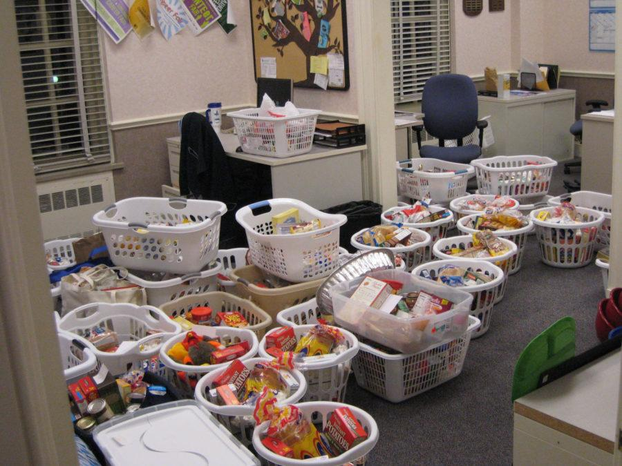 The Office of Volunteer Programs will be collecting baskets of donated goods for a Thanksgiving drive until Nov. 17. The baskets will then be distributed by the Stone Creek Church to families in Champaign-Urbana.