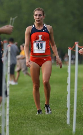 Alyssa Schneider earns the first place finish during the Illini Challenge at the UI Arboretum on Aug. 29. Schneider has finished first for the Illini in all except one meet.