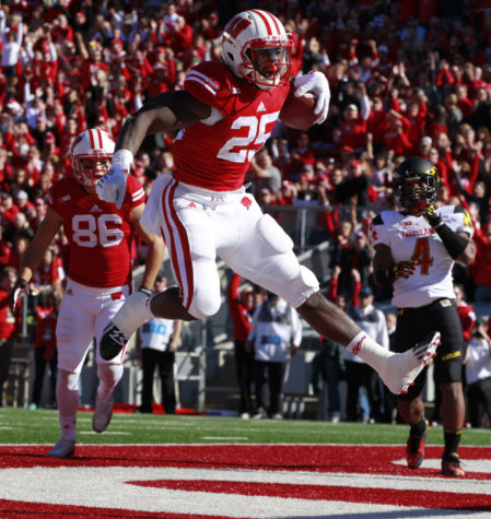 Wisconsin running back Melvin Gordon bursts into the end zone to score a touchdown during the first quarter against Maryland on Saturday, Oct. 25, at Camp Randall Stadium in Madison, Wis. Wisconsin won 52-7.