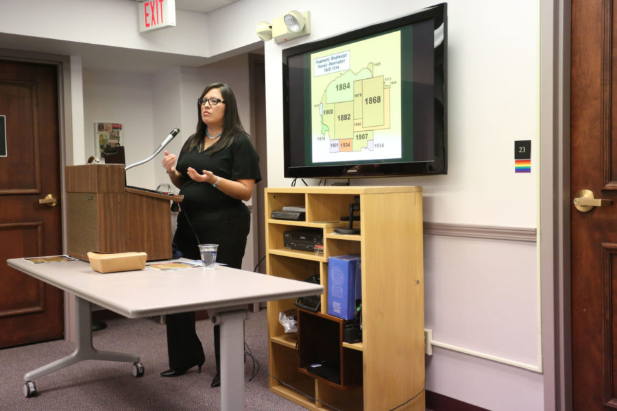Native American House assistant director, Beverly Smith, talks about Native American relations and populations at the Women's Resource Center.