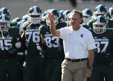 Michigan State head coach Mark Dantonio will lead the Spartans against the Ohio State Buckeyes on Saturday.