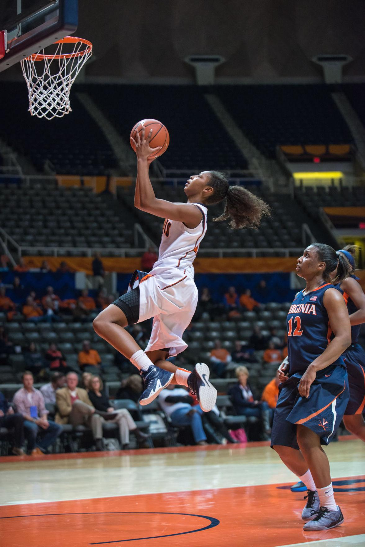 Illinois' Amarah Coleman has stood out through her consistent performances this season and is currently playing sixth in the rotation.
