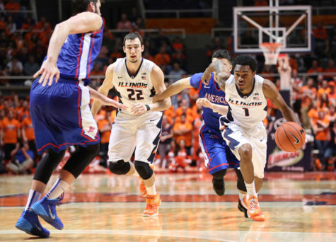 Illini basketball's bench key in win over American