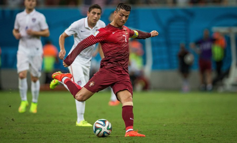 Portugal's Cristiano Ronaldo moves the ball against Team USA during the FIFA World Cup at the Arena Amazonia Stadium in Manaus, Brazil, on June 22, 2014.