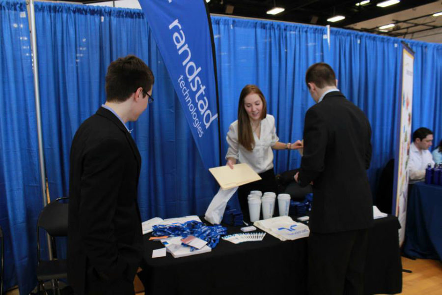 Students take advantage of the career resources available through the University both at the Career Center and at campus career fairs.