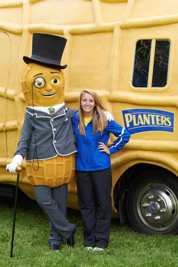 Taylor Higgins, current Peanutter and 2014 University alumnae, has been traveling in the NUTmobile since June 2014.