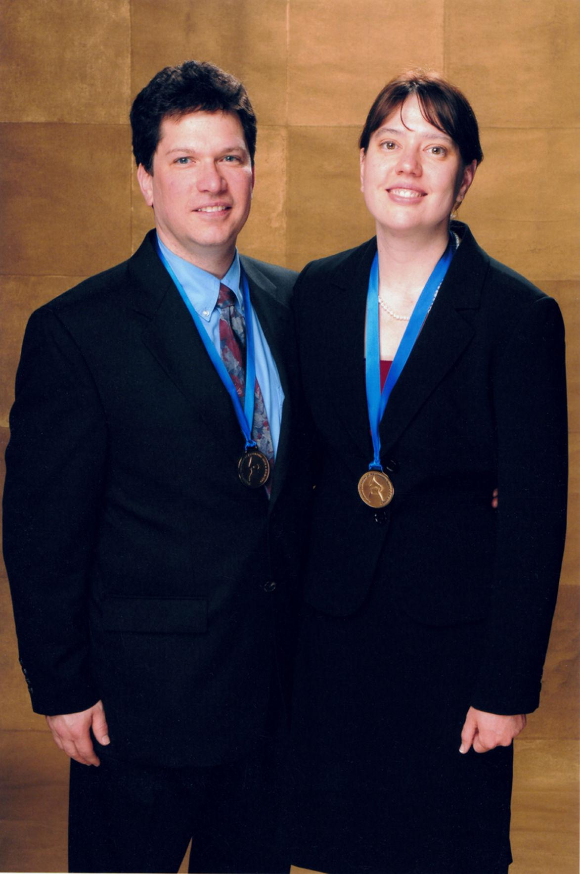 Meagan Hennessey and Richard Martin stand with their