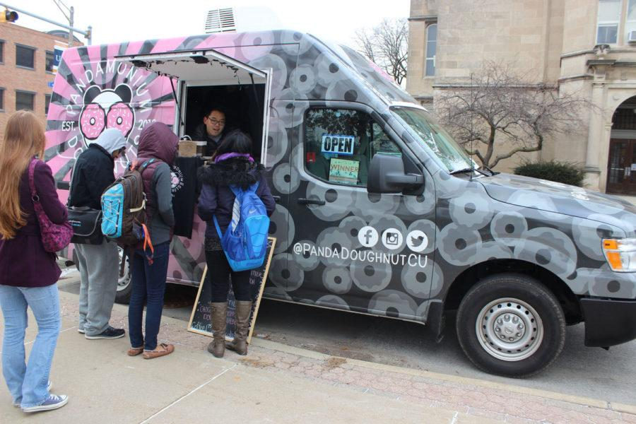 Pandamonium Doughnuts, a gourmet doughnut food truck, has been serving Champaign-Urbana specialty handcrafted treats since its start in May 2013. Pandamonium will be opening its first permanent location in Savoy later this year.